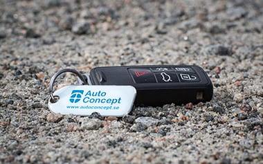 Bilnyckel med AutoConcept nyckelbricka
